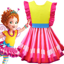 цена на Cute Fancy Nancy Cosplay Dresses for Girls Princess Costume Kids Backless Party Dress Toddler Summer Frocks Baby Clothing 4PCS