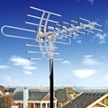 HDTV 1080P Outdoor Amplified Antenna Digital HD TV 150 Mile 360 Rotor UHF/VHF/FM