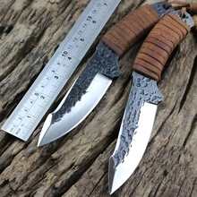 2016  survival manual forging equipment straight knife self-defense camping hunting knife high hardness tool collection