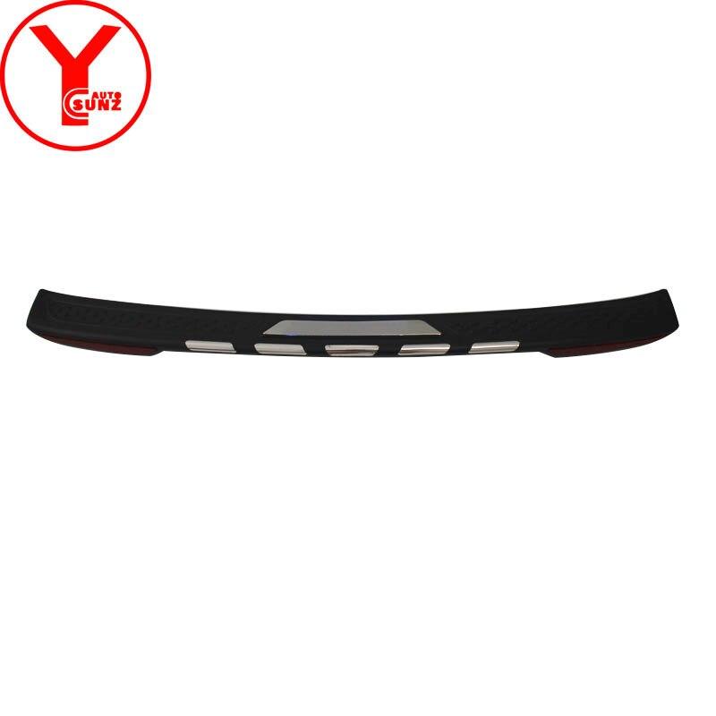 Pare-chocs arrière couverture avec la lumière pour mitsubishi pajero sport montero sport shogun 2015 2016 2017 2018 car styling accessoires YCSUNZ