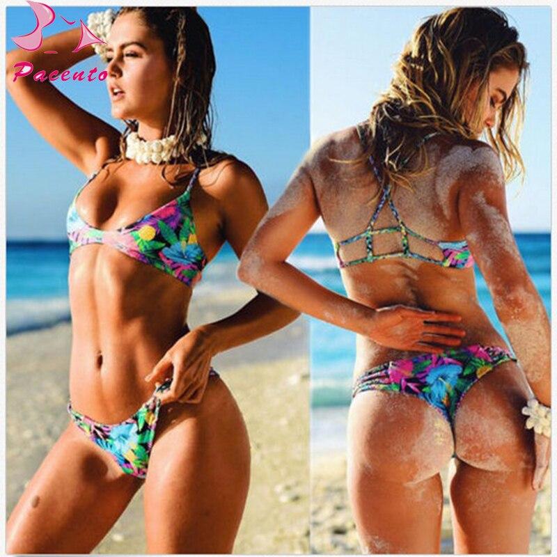 3471be5131e Pacento Bikinis Set Sexy Halter Pineapple Bikini Women Push Up Swimwear  Female Bathing Suit Beach Women Swimsuits Brazilian