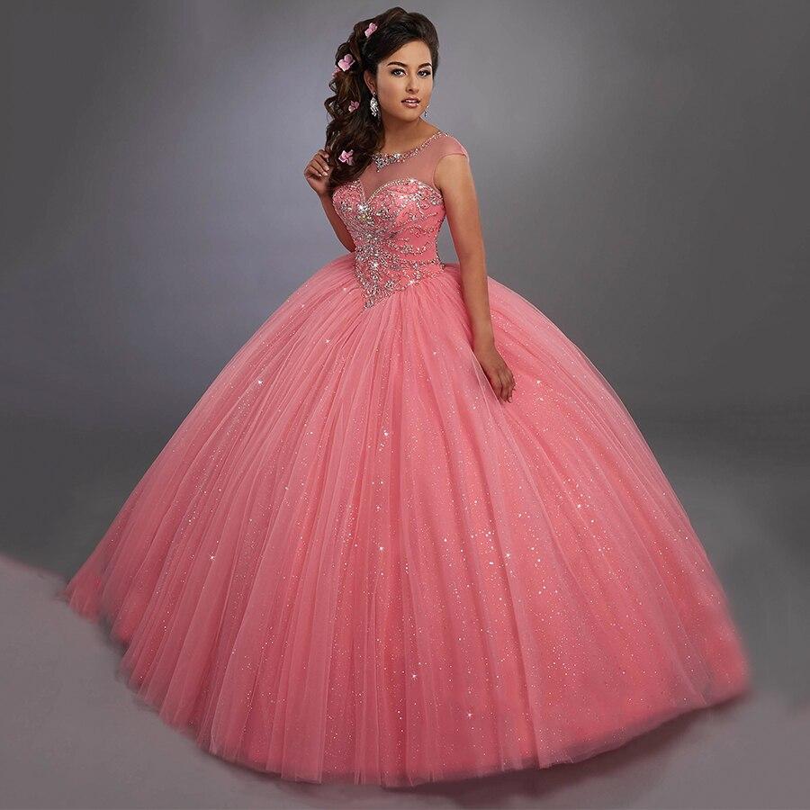 Encantador Vestido De Color Rosa Perla De Baile Bandera - Colección ...