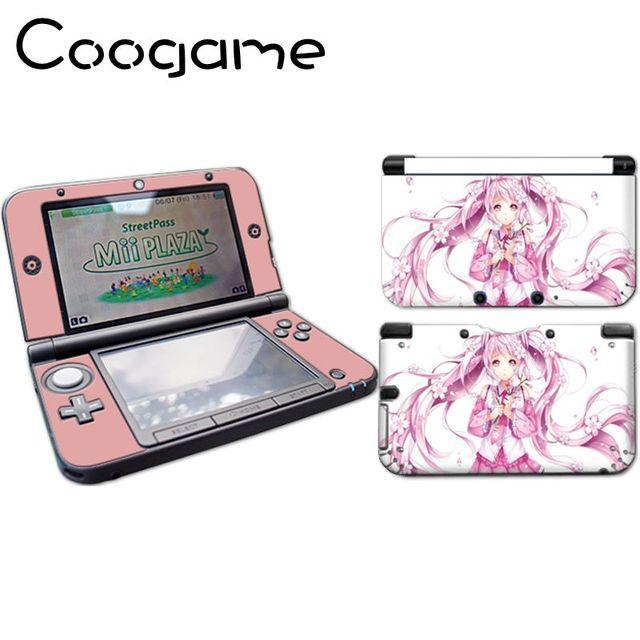 Coogame Rose Belle Fille De Bande Dessinée Autocollant Pour 3DS LL XL  Contrôleur Cas