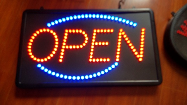 freeshipping led screen electronic word sign neon lamp business