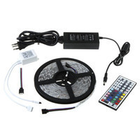1pcs IP65 Waterproof 300 LED Strip 5M SMD3528 RGB + 44 Key IR Controller control Box + Power Supply Free Shipping