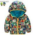Casacos de Inverno das crianças de Alta Qualidade Crianças Inverno Down Jacket Para Meninos Double-Sided Wear Inverno Crianças Down Jacket para As Meninas