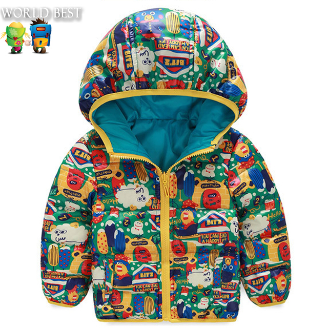 Children's Winter Jackets High Quality Winter Kids Down Jacket For Boys Double-Sided Wear Winter Kids Down Jacket For Girls