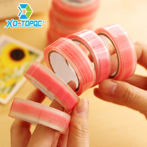 2/lot 1.5mm*4.5cm Pink Lovly Single-Side Tape DIY Album Masking Tape Office Sticker Decorative Adhesive Tape Free Shipping