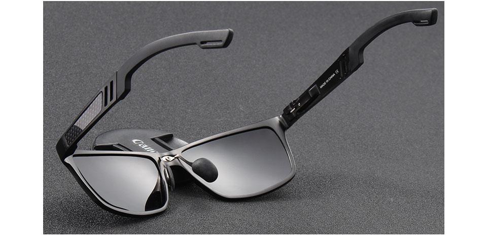 KINGSEVEN Men Polarized Sunglasses Aluminum Magnesium Sun Glasses Driving Glasses Rectangle Shades For Men Oculos masculino Male