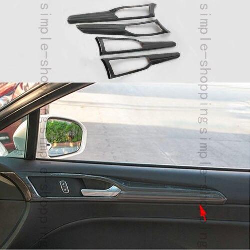 high quality auto exterior carbon fiber made door handle cover sticker decorations overlay trim for volkswagen golf 6 4x Carbon Fiber Color Door Handle Bowl Frame Cover Trim For Ford Fusion Mondeo