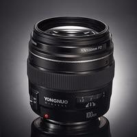YONGNUO YN100mm F2 AF MF Medium Telephoto Lens Prime Lens Large Aperture Auto Focus Lens for Canon EOS DSLR or nikon AF Camera