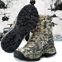 Botas de hombre con tipo militar para los hombres de combate de infantería de los zapatos botas tácticas impermeable Askeri Bot zapatos del ejército erkek calzado |