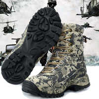Man Laarzen met Militaire Type voor Mannen Combat Schoenen Infantry Tactische Laarzen Waterdichte Askeri Bot Leger Schoenen erkek ayakkabi