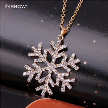 Cheap fashion jewelry CZ Crystal charm necklaces snowflake necklace for christmas flower pendants necklace bijoux colliers 2015