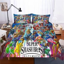 WAZIR Cartoon Mario Printed bedding set 10 Size comforter bedding sets One Piece bedclothes bed linen duvet cover Pillowcases(China)