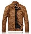 2016 nova moda motocicleta marca genuína roupas de couro, mens jaquetas de couro e casacos, jaqueta de couro dos homens