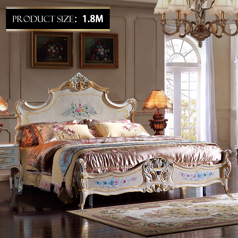 Italian French Antique Furniture Bedroom Reproduction Bed