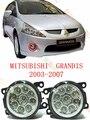 Para mitsubishi grandis 2003/04/05/06/07/08/09/10/11 estilo do carro levou lâmpadas de luzes de nevoeiro reequipamento modificado 12 v 2 pcs