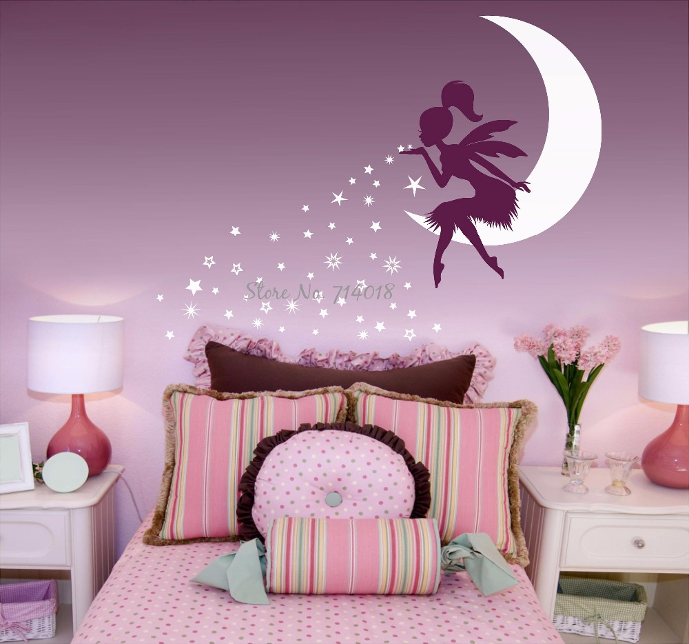Fairy Blowing Stars Wall Decal Fairy Blowing Pixie Dust