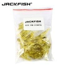 JACKFISH 10Pcs/lot 4cm Soft Artificial Shrimp Lure Lifelike Fishing Lures  Prawn Soft Fishing Bait Fishing Tackle Pesca