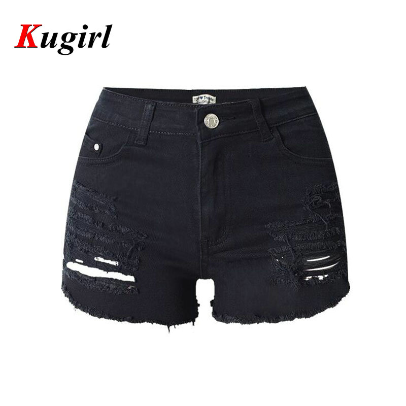 Black Ripped Jean Shorts - Hardon Clothes