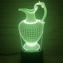 7 color change Led Kids Table Lamps Halloween decorative 3d Light Fixtures Luminaria De Mesa Novelty Luminaria 3d Lamp(China)