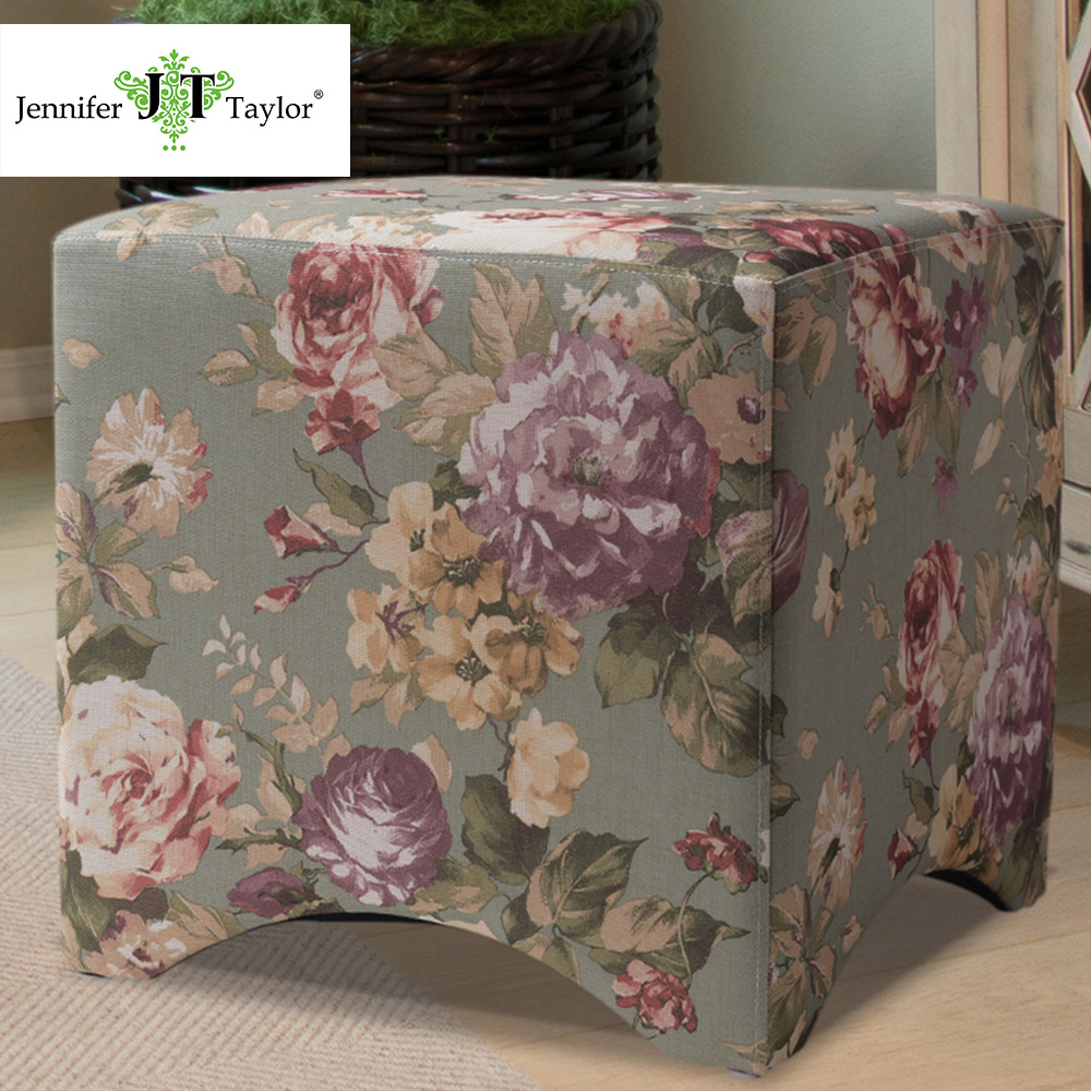 Jennifer Taylor Home, Accent Cube, Tango Multicolored, Boho 17W x 17D x 18H