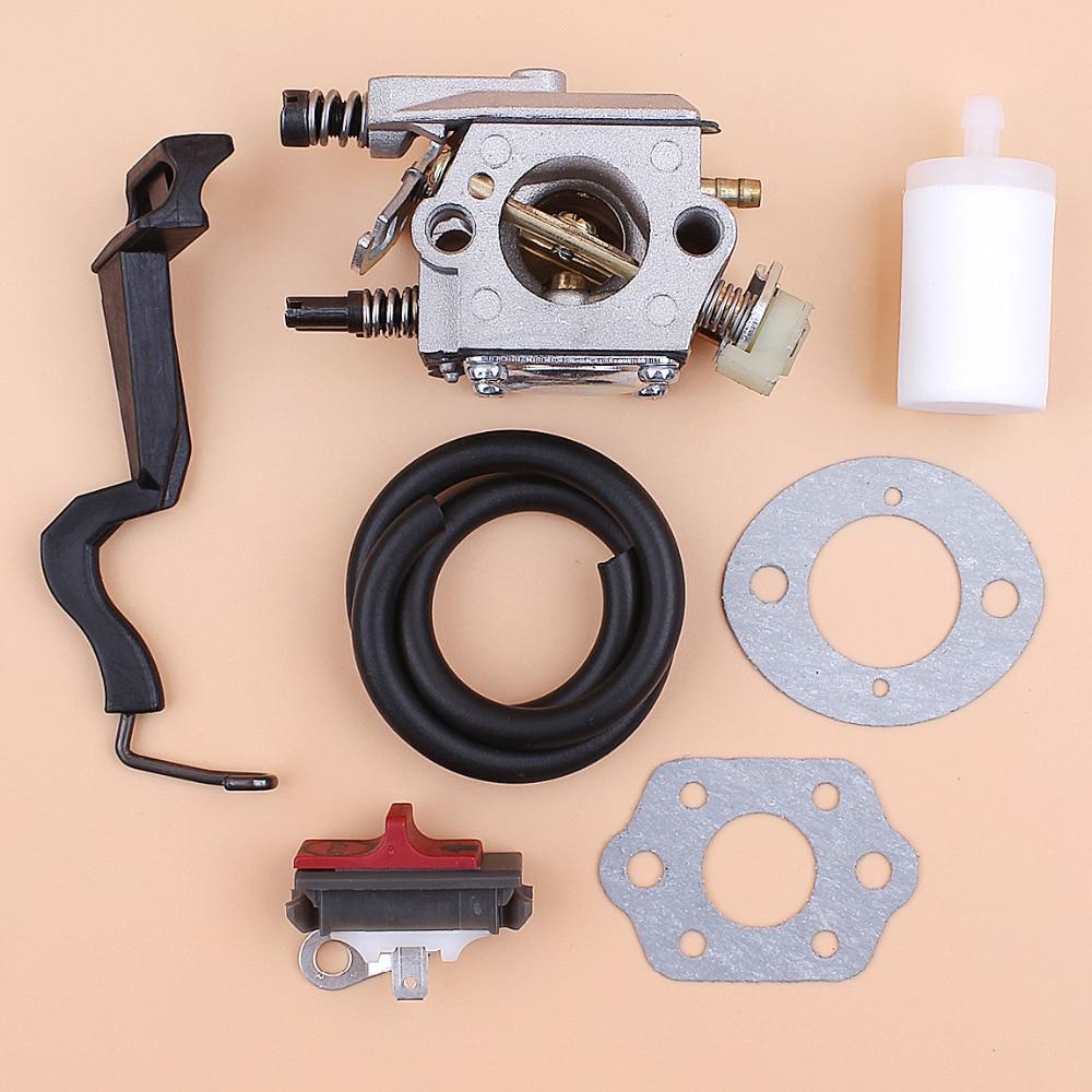 Carburetor Gasket Choke Rod Fuel Hose Stop Switch Kit For Husqvarna 55 50 51 Gasoline Chainsaw Spares Walbro WT-170 503281504