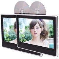 Car Headrest Monitors Pair of 11.6 inch LCD Screen DVD Player with Remote Control support USB/SD HDMI Port IR FM Transmitter