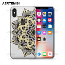 Aertemisi Telefoon Gevallen Mantilla Mandala Transparante Crystal Clear Tpu Case Cover voor iPhone 5 5 s SE 6 6 s 7 8 Plus X(China)