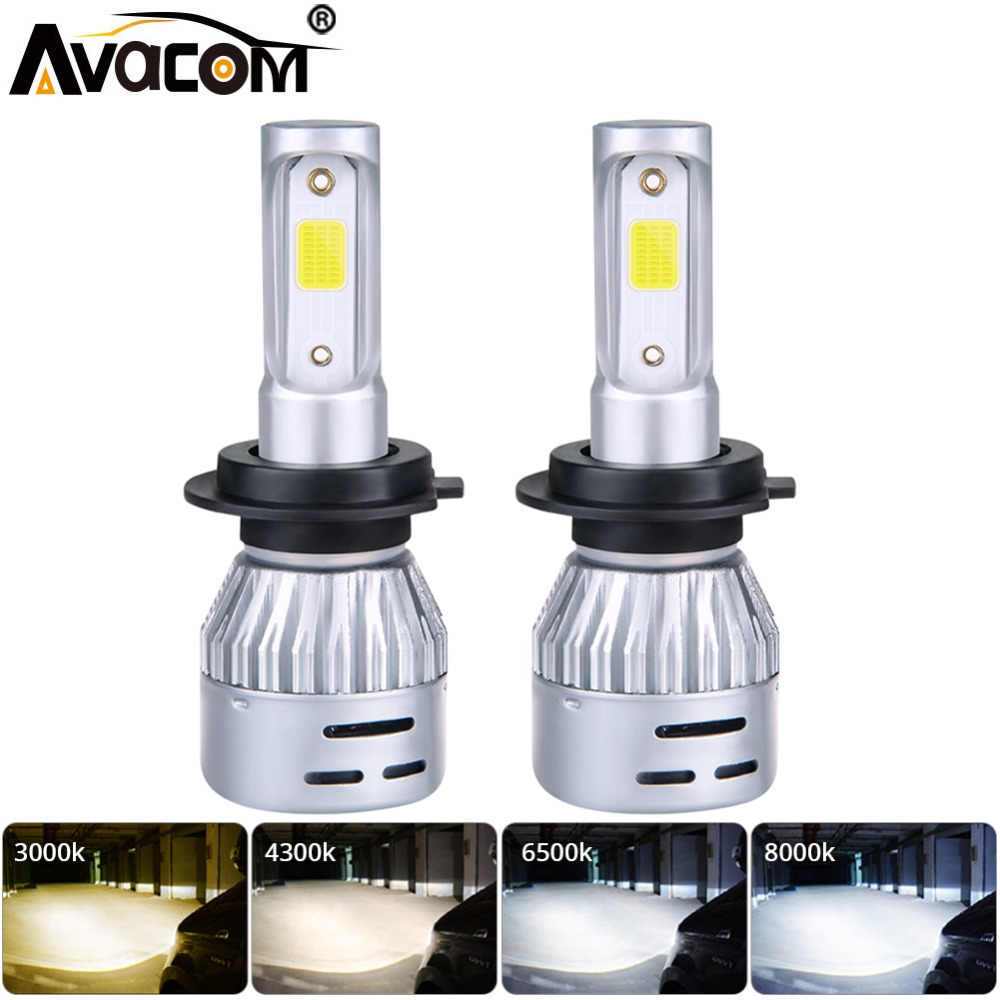 H7 H1 LED Car Headlight Bulb H11 H8 LED Auto Lamp 9005 HB3 9006 24V 72W 8000Lm 6500K 3000K COB 12V LED HB4 H4 4300K Car Bulb