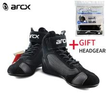 ARCX Moto D'équitation En Cuir Respirant Bottes Motocross Off road Racing Sport Protection Biker bots Chaussures pour Hommes et Femmes D'été