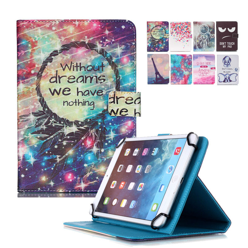 все цены на Universal 9.7 10 inch tablet PC Wallet PU leather case For Irbis TW21 10.1 inch table Stand Cover +Center flim+pen KF553C онлайн