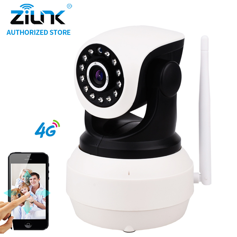 ZILNK 1080P Full HD 4G Camera IP SIM Card P2P PT Wireless Home Security Two Way Audio Motion Detection IR SD Card Indoor White фен babyliss bab6510ire caruso ionic 2400w bab6510ire
