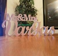 Wedding Sign Mr And Mrs LAST NAME Wedding Mr Mrs Last Name Table Sign Wedding Decor