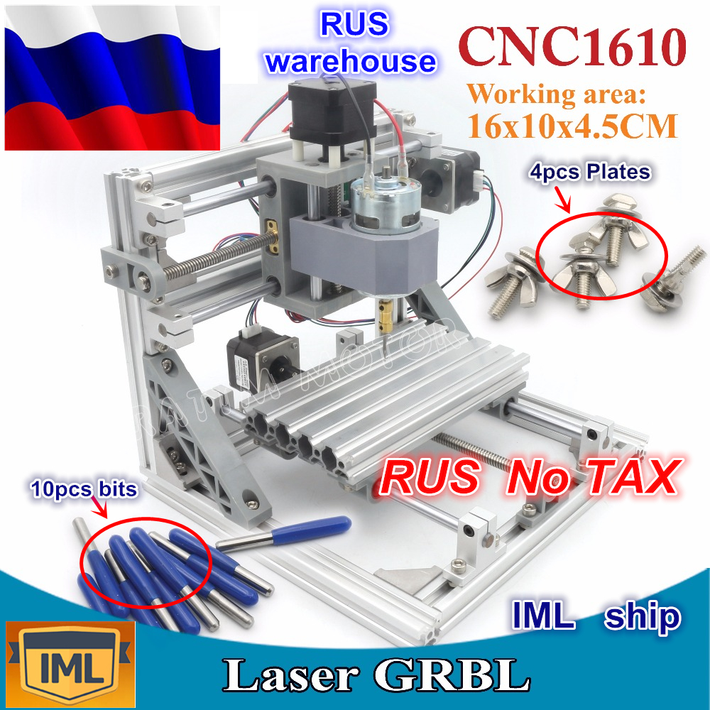 цена на RU ship 3 Axis Pcb Milling machine 1610 GRBL control DIY mini CNC machine working area 160x100x45mm ,Wood Router,cnc router v2.4