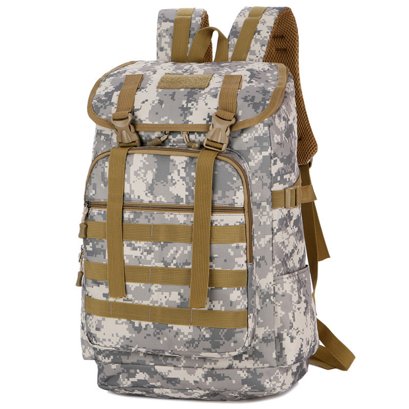 Camouflage Tactical Backpack Waterproof Army Bag Man Molle Military Pack For Travel Camping Climbing Rucksack Hunting Backpacks Climbing Bags     - title=