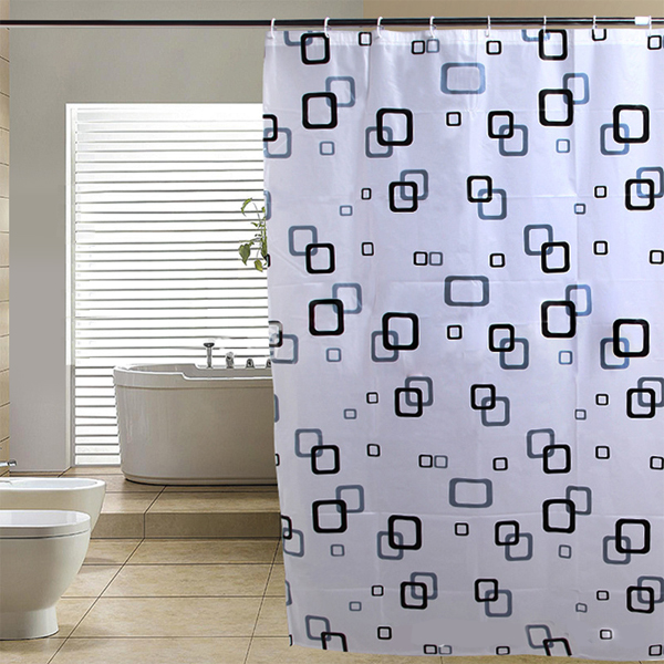 Elegant Waterproof White Polyester Fabric Extra Long Shower Curtains ...