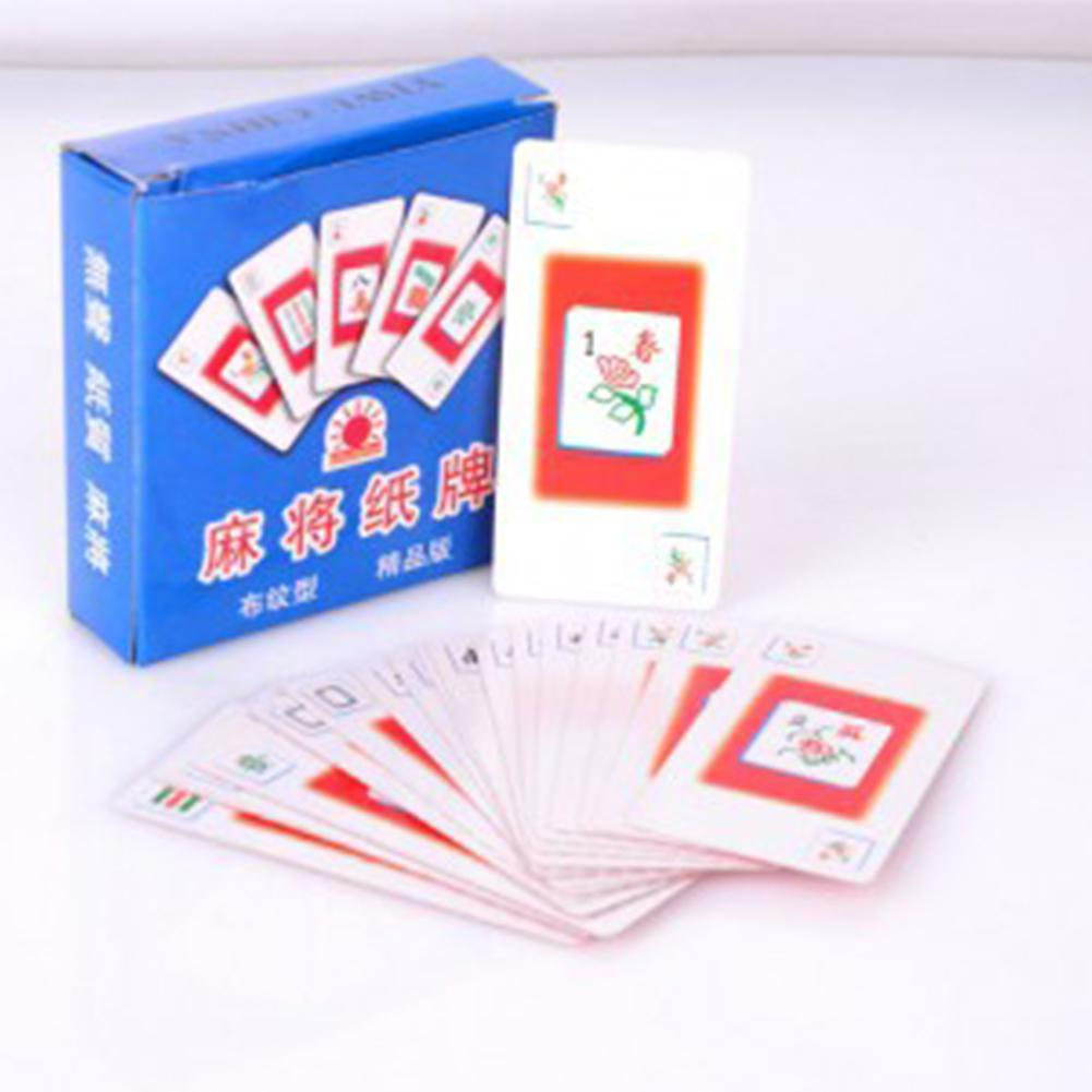 Portable Mahjong Game Card Quiet High Strength Pay Cards image