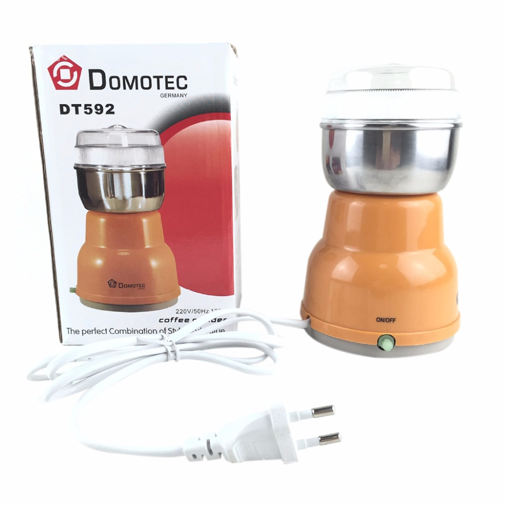 Electric Stainless Steel Coffee Bean Grinder Home Milling Machine Kitchen 220VElectric Stainless Steel Coffee Bean Grinder Home Milling Machine Kitchen 220V