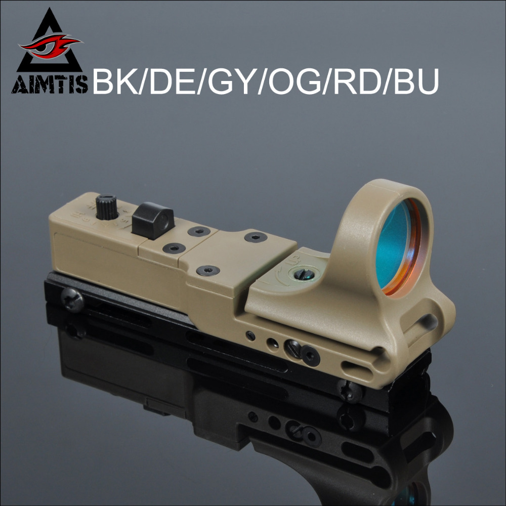 AIMTIS Tactical Collimator Sight C-MORE Micro Red Dot Sight Railway MOA Reflex Sight Scope Fit 20mm Picatinny Weaver Rail