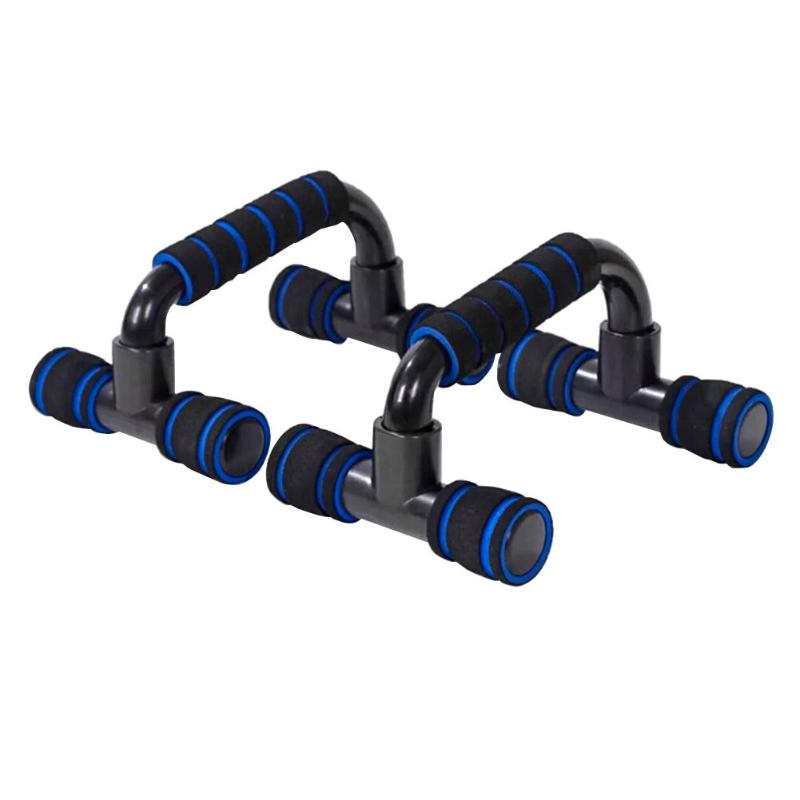 1pair Push-up Brackets Plastic H-shaped Sports Push-up Bracket Arm Muscle Power Trainer Equipment Chest Expander Equipment