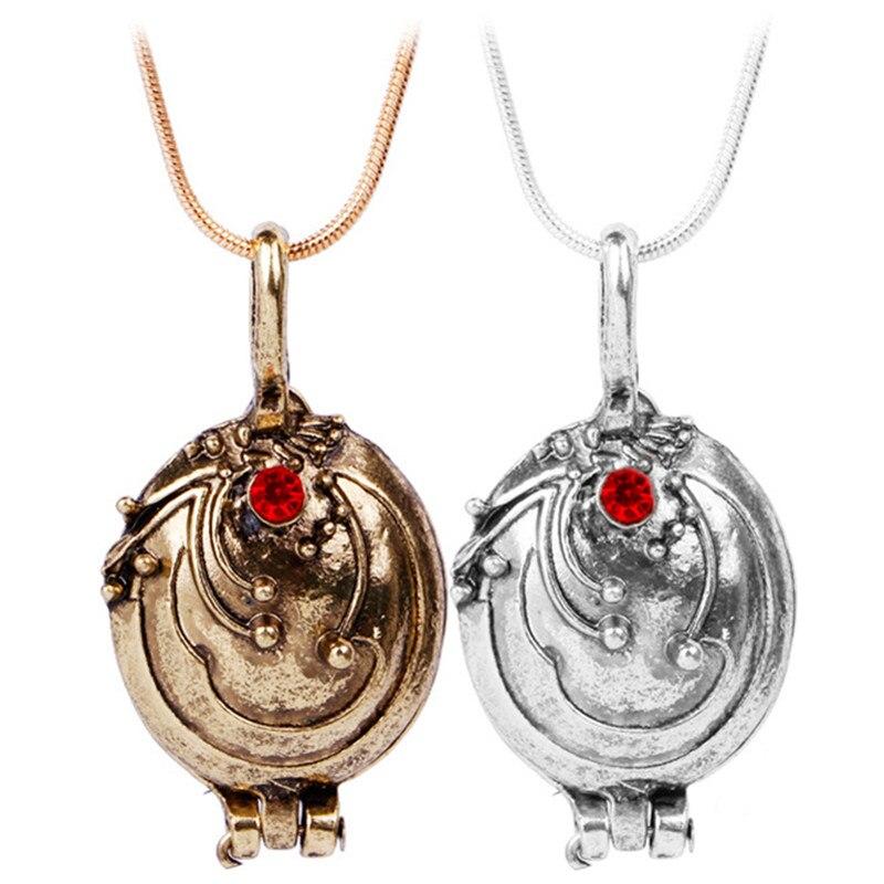 Novo vampiro diário colar elena gilbert retro verbena verveine foto pingente medalhão masculino & feminino jóias