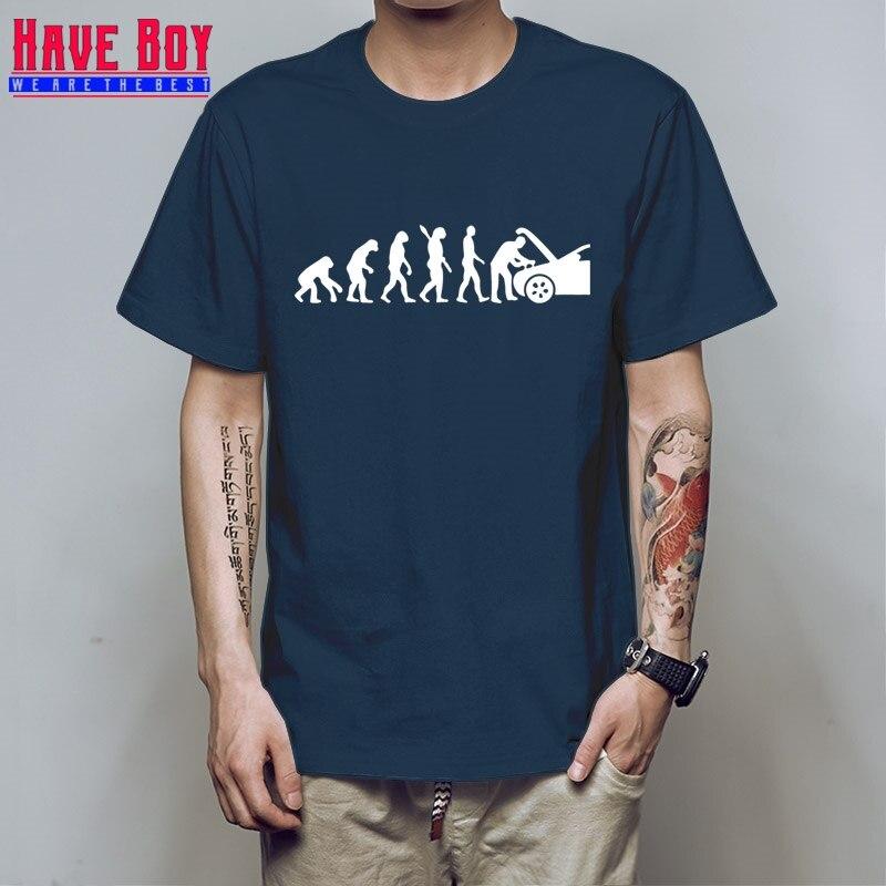 Full   T     Shirt   For Mens Evolution Auto Mechaniker Mechanic Car Free Shipping autumn Fashion Funny Tee   Shirts   HB20