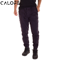 CALOFE Athleisure Sport Pants Men Basketball Gym Pants Male Bottoms Fitness Gym Wear Pockets Solid Harem