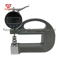 0 10x100mm Digital Thickness Gauge For Rubber,Paper,Plastic Film With Roller