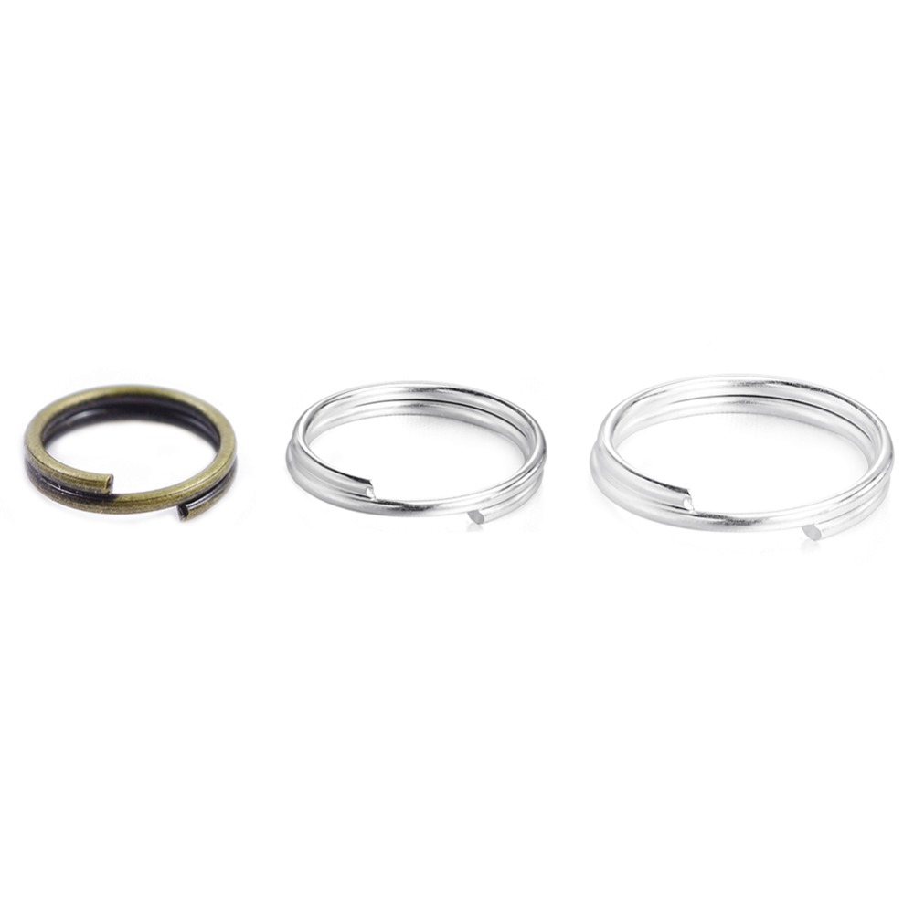100pcs 10mm Silver plated double loop open jump split rings jewellery findings