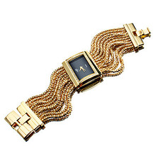 Hot Sale, Alloy Analog Women Luxury Watch, Gold/Silver Quartz Bracelet Watch