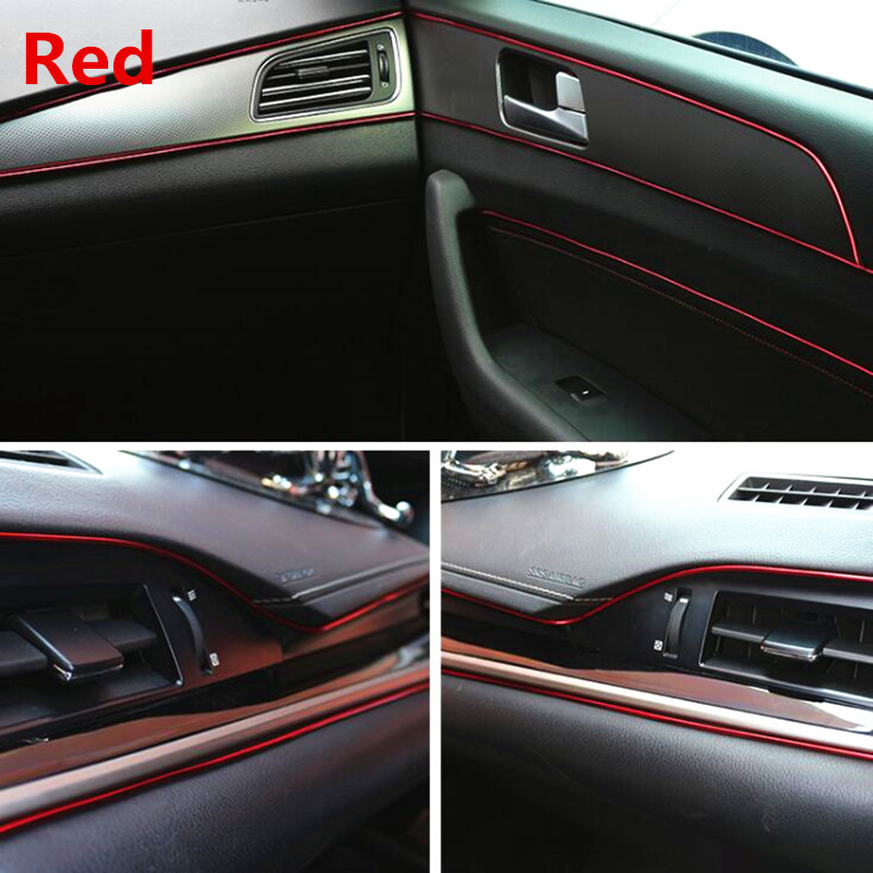 Image 4 - 5M Car Interior Decoration Moulding For Ford focus MK2 MK3 MK4 Kuga Fiesta Mondeo Ecosport For Chevrolet Cruze Malibu Aveo-in Car Stickers from Automobiles & Motorcycles