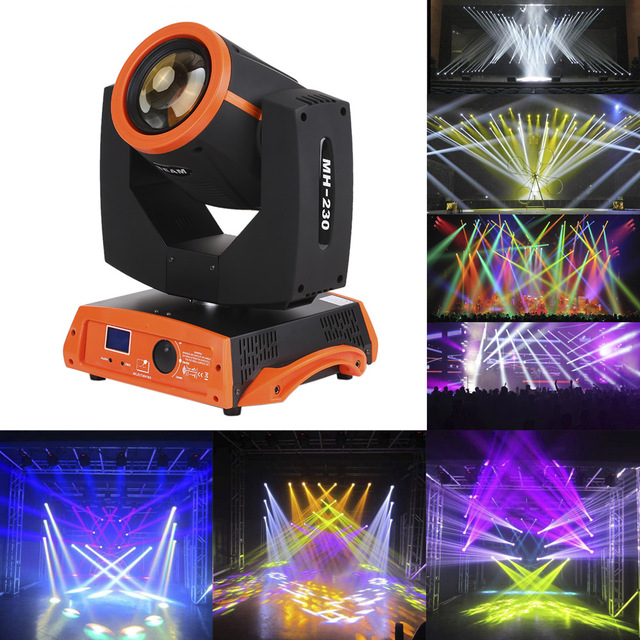 Beam Gobo Prism Light Color Jumping Strobe Dimming DMX512 Master-Slave 230W LED Moving Head Spot Stage Lighting DJ Disco Light